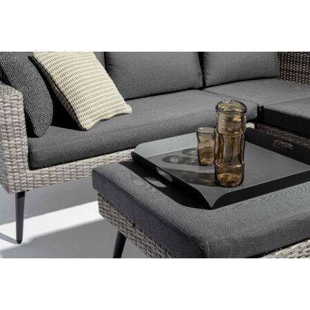 Marlow kerti bútorszett - fekete