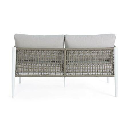Calypso kétszemélyes kerti kanapé - szürke, fehér
