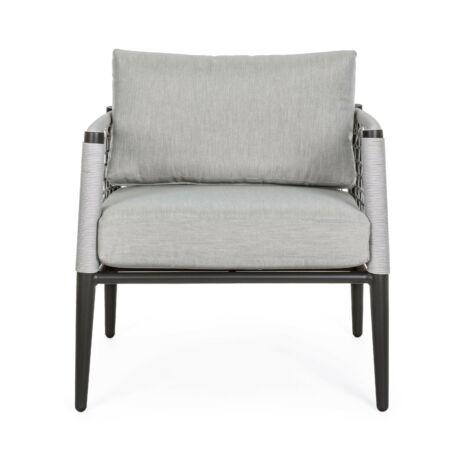 Calypso egyszemélyes kerti kanapé - szürke, fekete