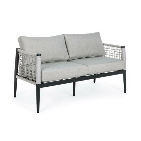 Calypso kétszemélyes kerti kanapé - szürke