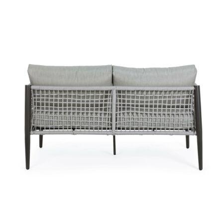 Calypso kétszemélyes kerti kanapé - szürke, fekete