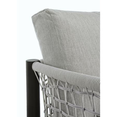 Calypso kerti kanapé - szürke, fekete