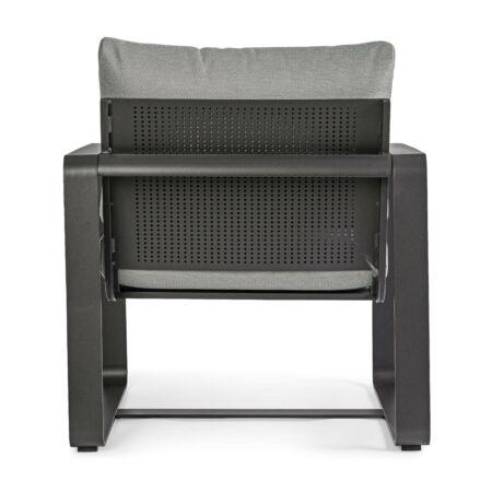 Merrigan egyszemélyes kerti kanapé - szürke, fekete