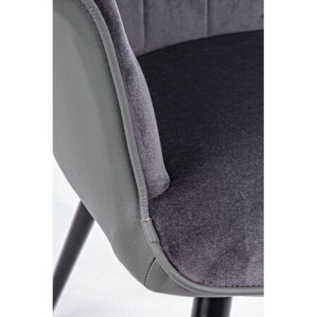 Nana bársony karfás szék - sötét szürke