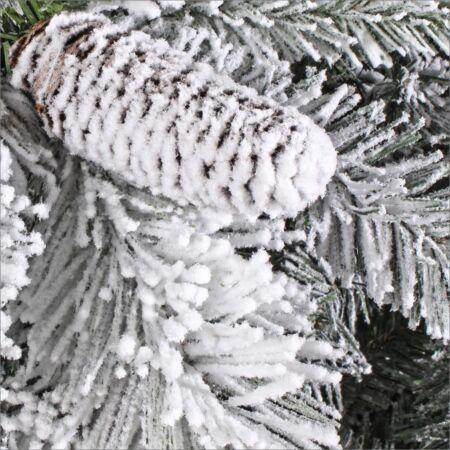 NEWARK műfenyő - 210 cm - havas tobozos