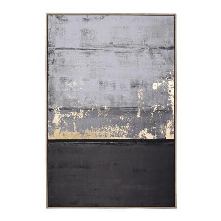 Carbon/2 vászon kép arany fóliával 82x122 cm