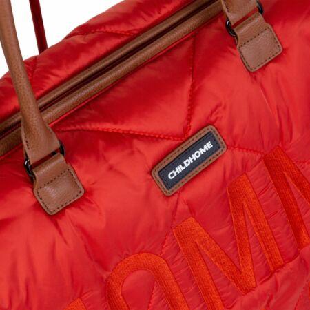 Mommy Bag táska piros pufi