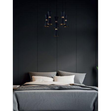 Cornet függeszték LED arany/fekete
