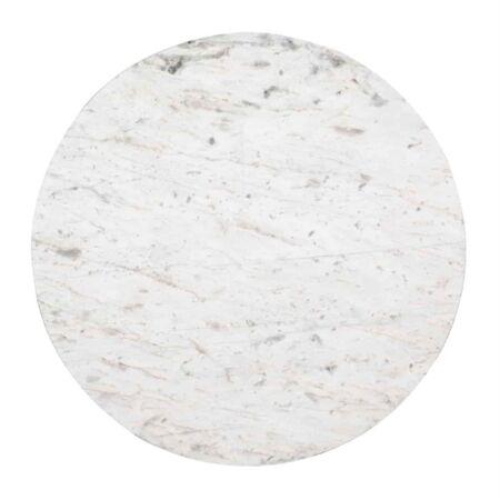 Levanto fehér márvány dohányzóasztal szett ezüst lábbakkal - 91,5 cm