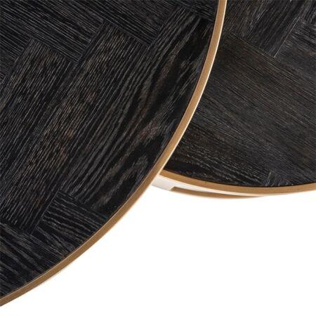 Blackbone metal bronz - fekete dohányzóasztal - 91,5 cm