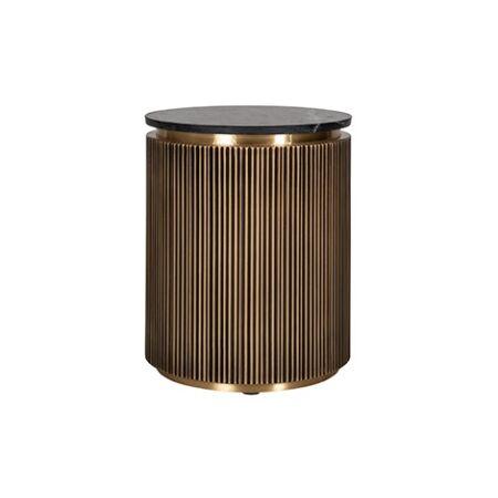 Ironville fekete márvány - arany dohányzóasztal - 61 cm