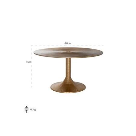 Dexter arany dohányzóasztal - 77 cm