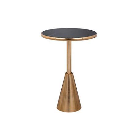 Colby fekete márvány - arany dohányzóasztal - 55 cm