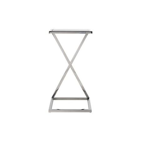 Paramount üveg-ezüst kanapéasztal - 66,5 cm