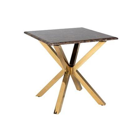 Conrad márvány - arany dohányzóasztal - 60 cm