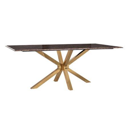 Conrad márvány étkezőasztal arany asztallábakkal - 200 cm