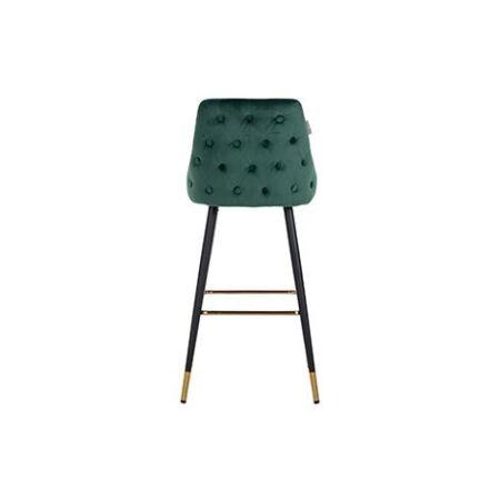 Imani sötétzöld bársony bárszék fekete-arany asztallábakkal - 109 cm