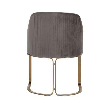 Hadley sötétszürke bársony fotelszék arany lábakkal - 81 cm