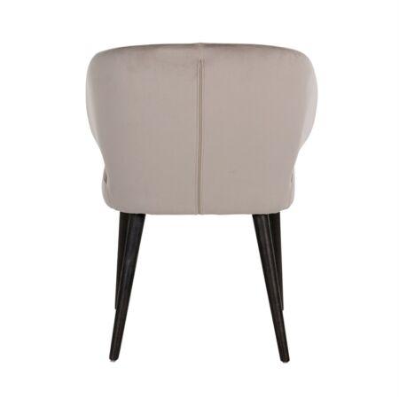 Indigo világos khaki bársony fotelszék fekete asztallábakkal - 81 cm
