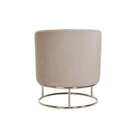 Felicia világos khaki bársony fotel arany lábbal - 75 cm