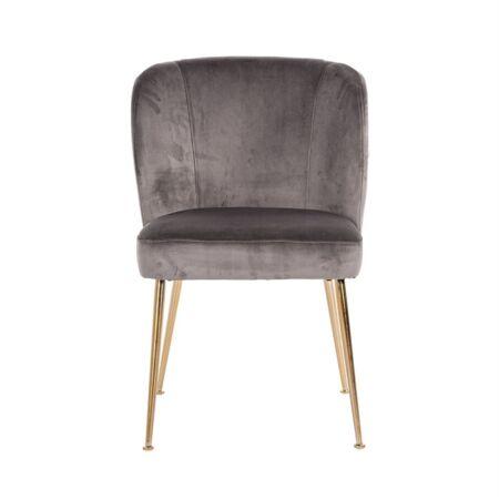 Cannon sötétszürke bársony fotelszék arany lábbakkal - 84 cm