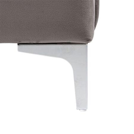 Belmond sötétszürke bársony ágy ezüst lábakkal - 180x200 cm