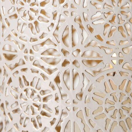 Fém Viharlámpa- Szürkés bézs 33 cm
