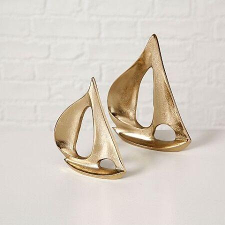 Arany vitorlás szobrok- 2 db