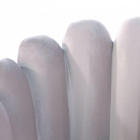 Wavy -  szürke bársonyfotel