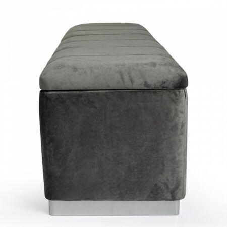 LELLA pad - bársony - szürke tárolóval