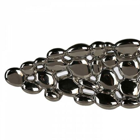 BUBBLES tál - ezüst - 63 cm