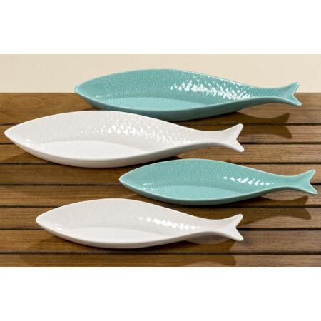 Kínáló tál szett - halak  - Fehér szett