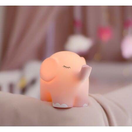 Éjszakai lámpa elefánt pasztell rózsaszín JABADABADO