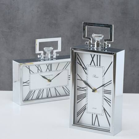 Design óra álló  - Ezüst színben