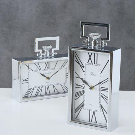 DESIGN asztali óra - álló - ezüst