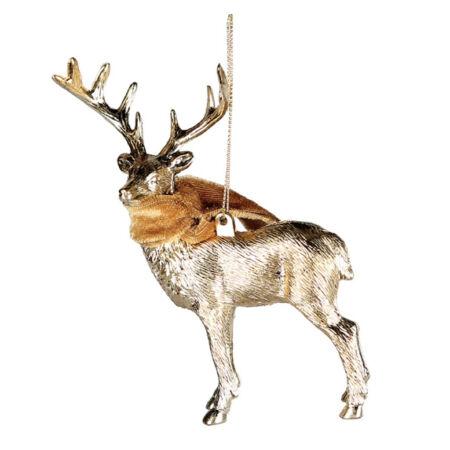 Szarvasos karácsonyfadísz - arany
