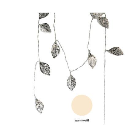 """""""Leaf"""" Fényfűzér ezüst - 10 db-os"""