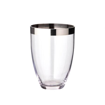 MIlánó üveg váza  - 20 cm