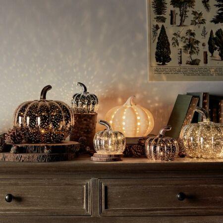Halloween tök trió LED világítással - rosé színben