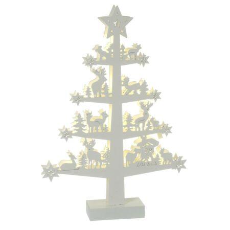 """Rénszarvas """"család-fa"""" LED világítással-  32.5 x 5.5 x 47 cm"""
