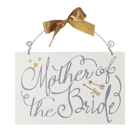 """Esküvői Dísz """" Mother of the Bride """" Tábla"""
