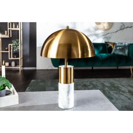 Burlesque márvány asztali lámpa arany