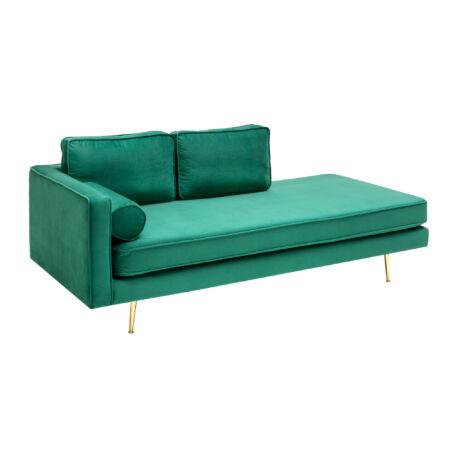 Avia bársony kanapé smaragdzöld