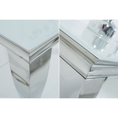 BARI konzolasztal - üveglappal - 140 cm