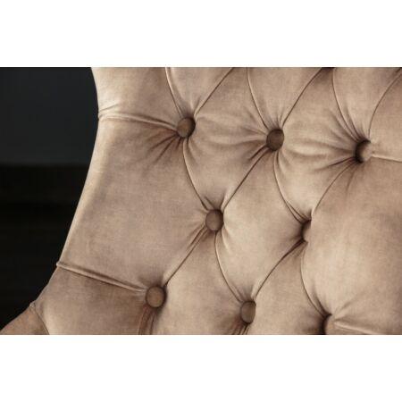 CASTLE szék - barna színben fém fogantyúval