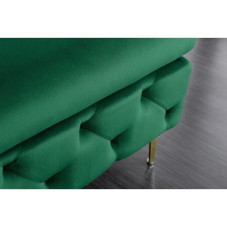 Chester ottomán - zöld/arany- 90 cm