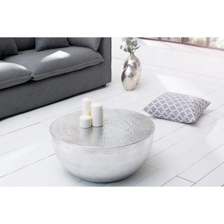 MOON dohányzóasztal - ezüst - 60 cm