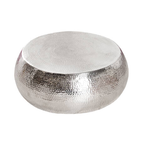 MOON dohányzóasztal - ezüst - 80 cm
