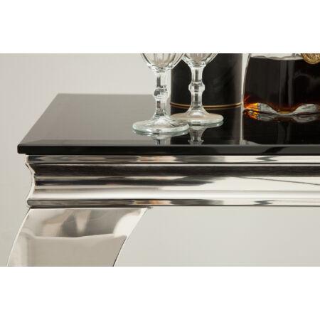 BARI konzolasztal - fekete üveglappal - 140 cm