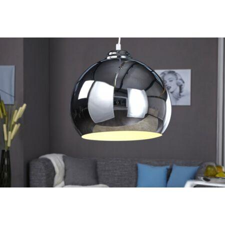 CROMO függesztett lámpa 1 db-os - ezüst